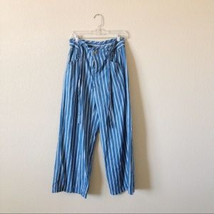 American Eagle High-Waisted Striped Palazzo Pant